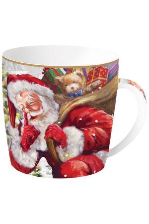 Кружка Дед Мороз с мишкой Easy Life. Цвет: красный, белый