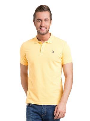 Футболка-поло U.S. Polo Assn.. Цвет: светло-желтый