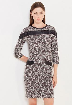Платье Vay. Цвет: коричневый