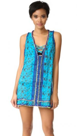 Платье Bibi Poupette St Barth. Цвет: голубой