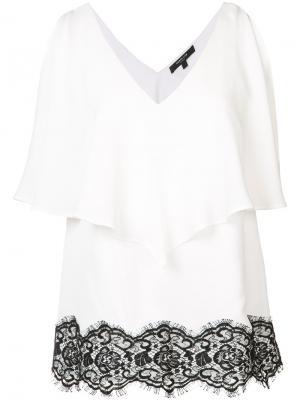 Lace detail ruffled blouse Derek Lam. Цвет: белый