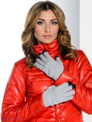 Перчатки Milana Style. Цвет: светло-серый, черный