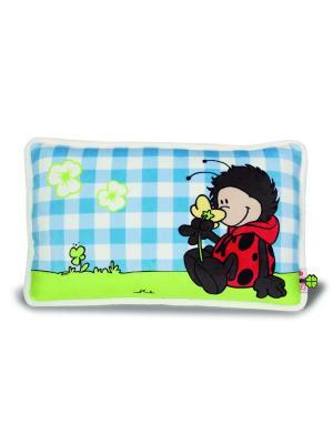 Декоративная подушка Божья коровка NICI. Цвет: черный, голубой, красный