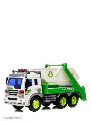 Машина грузовик-контейнерный мусоровоз Drift. Цвет: зеленый