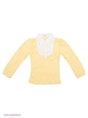 Блузка DAMY-M. Цвет: светло-желтый