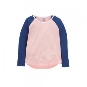 Топ ELLOS. Цвет: белый/ коралловый,розовый/ синий