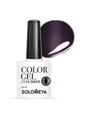 Гель-лак Cat Eye Gel Тон Deep Purple SCE007/Глубокий фиолетовый SOLOMEYA. Цвет: темно-фиолетовый