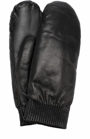 Кожаные варежки Canada Goose. Цвет: черный
