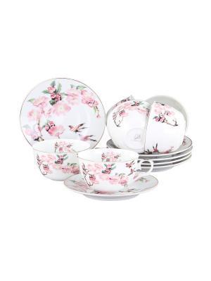 Набор чайный 12 предметов 250 мл., шт PATRICIA. Цвет: розовый