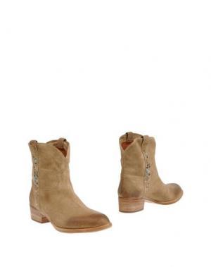 Полусапоги и высокие ботинки SARTORE. Цвет: песочный