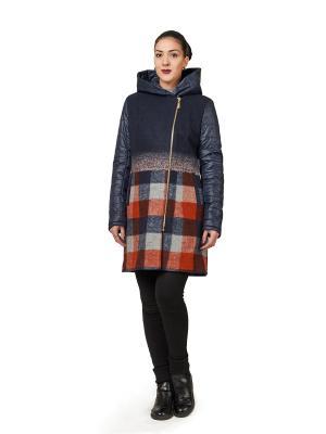 Пальто Best&Best. Цвет: синий, оранжевый, серый