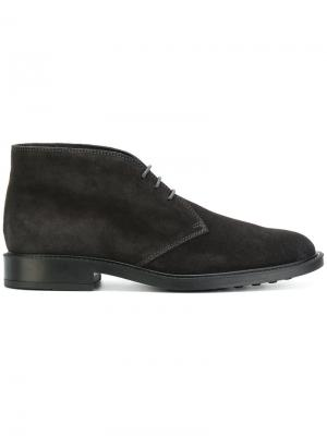 Lace-up boots Tods Tod's. Цвет: серый