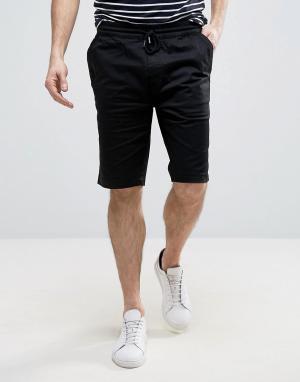 Troy Повседневные шорты со шнурком. Цвет: черный