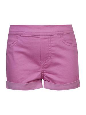 Шорты для девочек FOX. Цвет: розовый