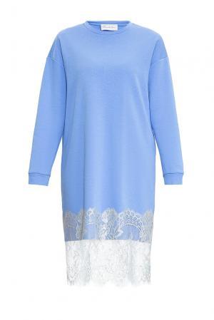 Платье-толстовка из хлопка 169883 Private Sun. Цвет: синий