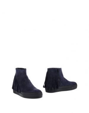 Полусапоги и высокие ботинки STOKTON. Цвет: темно-синий