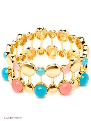 Браслет Bijoux Land. Цвет: золотистый, розовый, синий