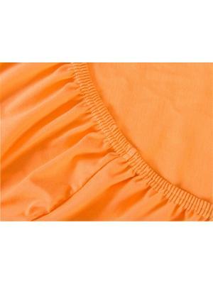Простыня на резинке ХЛОПКОВЫЙ КРАЙ. Цвет: оранжевый