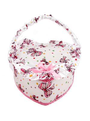 Шкатулка для рукоделия Русские подарки. Цвет: белый, бордовый, бежевый
