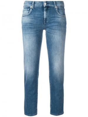 Cropped jeans 7 For All Mankind. Цвет: синий