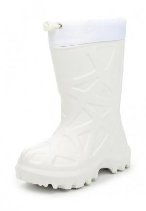 Резиновые сапоги Каури. Цвет: белый