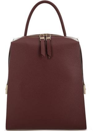 Бордовый рюкзак из мягкой кожи Gironacci. Цвет: бордовый
