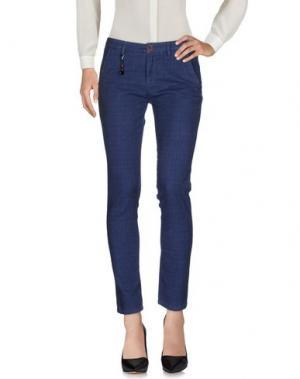 Повседневные брюки YAN SIMMON. Цвет: синий