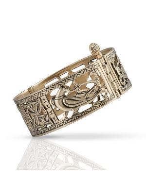 Створчатый браслет Четырехлистный клевер Balalaika. Цвет: бронзовый