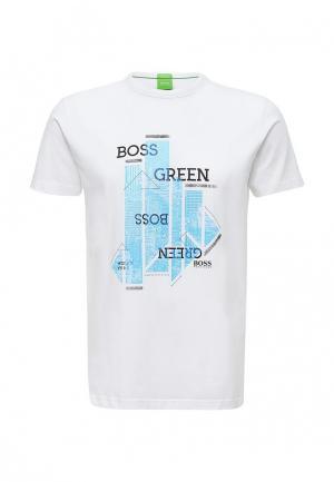 Футболка Boss Green. Цвет: белый