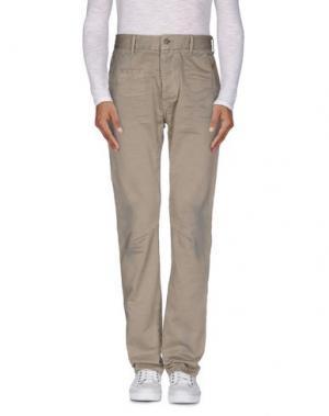 Повседневные брюки DNM-BRAND. Цвет: песочный