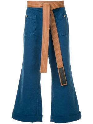 Расклешенные джинсы с поясом Loewe. Цвет: чёрный