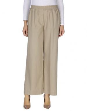 Повседневные брюки N_8. Цвет: бежевый