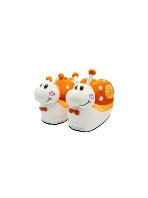 Тапочки Snails (оранжевые) Kawaii Factory. Цвет: оранжевый