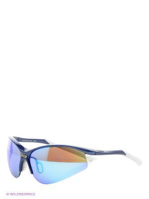 Солнцезащитные очки BBB. Цвет: голубой