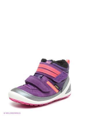 Ботинки ECCO. Цвет: фиолетовый, розовый