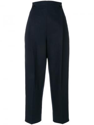 Зауженные брюки свободного кроя Jil Sander. Цвет: синий