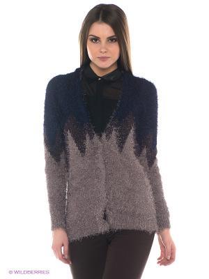 Кардиган Vero moda. Цвет: темно-синий, серо-коричневый