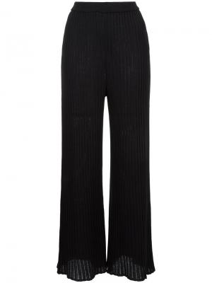 Ribbed knit pants G.V.G.V.. Цвет: чёрный