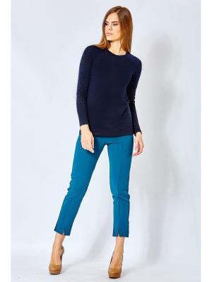 Блузка blans. Цвет: темно-синий
