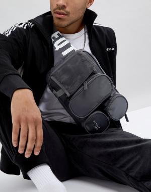Adidas Originals Серая сумка через плечо EQT CD6953. Цвет: серый