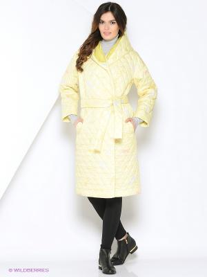 Пальто MAYAMODA. Цвет: желтый