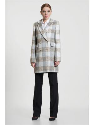 Пальто Gotti. Цвет: серый, бежевый, белый