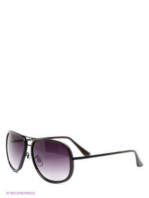 Солнцезащитные очки United Colors of Benetton. Цвет: темно-серый, черный