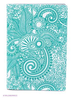 Обложка для автодокументов Мятный узор Mitya Veselkov. Цвет: бирюзовый, белый