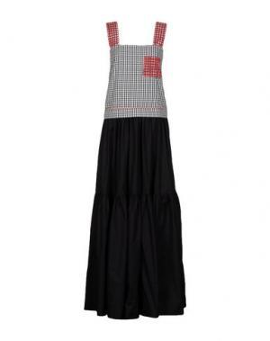 Длинное платье MARCO BOLOGNA. Цвет: черный