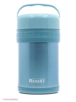 Термос ланч-бокс Regent inox. Цвет: голубой