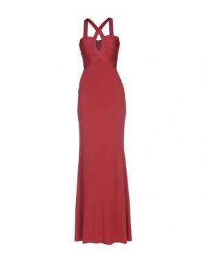 Длинное платье HERVE' L. LEROUX. Цвет: красно-коричневый