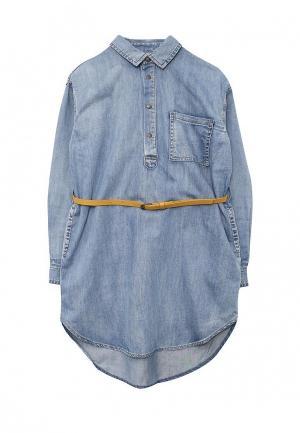 Платье джинсовое Gulliver. Цвет: голубой