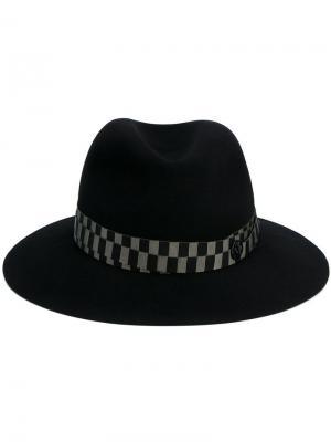 Фетровая шляпа Henrietta Bondage Maison Michel. Цвет: зелёный