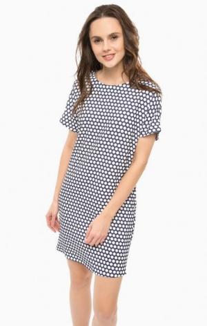 Платье в горошек с короткими рукавами River Woods. Цвет: синий